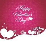 Valentim \ 'tipo felizes texto do dia de s na forma do coração ilustração stock
