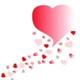 Valentim vermelho do coração Fotos de Stock