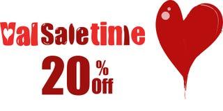 ValenTime, ValSaletime, ValSaletine, venta del ` s de la tarjeta del día de San Valentín del santo ilustración del vector
