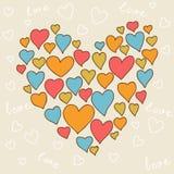 Valentin älskvärd sömlös textur för dag med gulligt vektor illustrationer