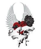 αυξήθηκε valentin Στοκ Εικόνα