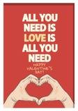 Valentin affisch för dagcitationstecken Arkivbild