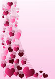 Valentin background. Valentin heart background with space for text Stock Photography