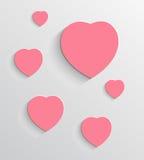 Valentin bakgrund för dagvektor Royaltyfri Fotografi