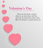 Valentin bakgrund för dagvektor Royaltyfri Bild