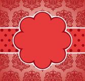 Valentin bakgrund för tappning för dagpink. Royaltyfri Fotografi