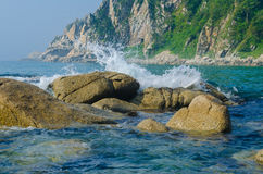 Valentin Bay stones. Japan sea Stock Image