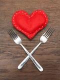 Valentin dag - abstrakt begrepp - romantisk matställe Fotografering för Bildbyråer