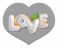 Valentin dag. bokstäver som 3d bildar ordförälskelse Royaltyfria Bilder