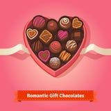 Valentin dag, födelsedagchoklader i ask stock illustrationer