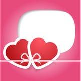 Valentin dag. Förälskelse och hjärtor. Vektorillustration. EPS 10 Royaltyfria Bilder