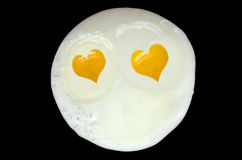Valentin dag Fried Eggs Royaltyfria Bilder