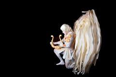 Valentin dag, kupidonman med harpan Arkivfoto