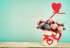Valentin dag, moders bakgrund för dag Arkivbilder