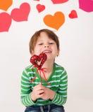Valentin dag: Roliga ungar royaltyfria foton