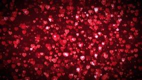 Valentin dag som svävar hjärtabakgrundsöglan