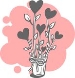 Valentin dag - vektoruppsättning. Royaltyfri Bild