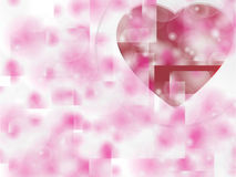 Valentin dagbakgrund med hjärtor Royaltyfria Bilder