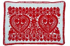 Valentin dagbakgrund med två hjärtor royaltyfria foton
