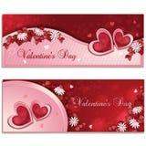 Valentin dagbaner Royaltyfria Bilder