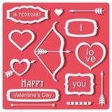 Valentin dagbeståndsdelar royaltyfri illustrationer