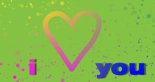 Valentin daghälsningar, grön bakgrund