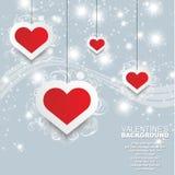 Valentin daghjärta och förälskelse Arkivfoto