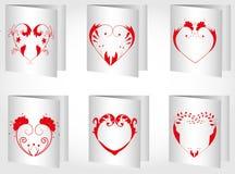 Valentin dagkort Arkivbild
