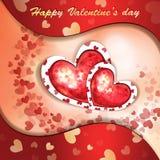 Valentin dagkort Royaltyfria Foton