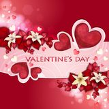 Valentin dagkort Arkivfoton
