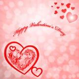 Valentin dagkort Arkivbilder