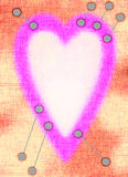 Valentin dagkort Royaltyfri Foto