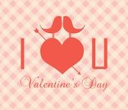 Valentin dagkort - illustration Arkivfoto