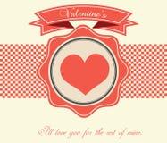 Valentin dagkort - illustration Royaltyfri Bild