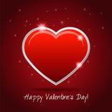 Valentin dagkort med hjärta stock illustrationer