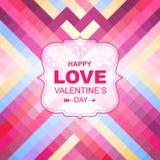 Valentin dagkort med prydnader stock illustrationer