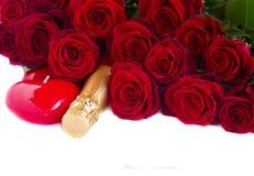 Valentin dagmörker - röda rosor Royaltyfri Bild