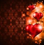 Valentin dagreklamblad Arkivbild