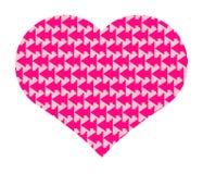 Valentin dags hjärta Arkivfoto
