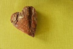 Valentin data biali drewniani listy Obrazy Royalty Free