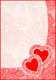 Valentin Day card with heart Stock Photography