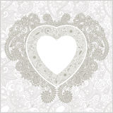 Valentin Day card with heart Royalty Free Stock Photo
