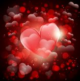 Valentin day. Greeting card with heart and love Stock Image
