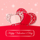 Valentin design för dagpapper, illustration Royaltyfri Foto