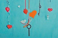 Valentin eller bröllophälsningkort Royaltyfri Bild