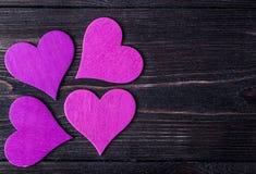 valentin Förälskelse valentin för dagvykort s Älska begreppet för dag för moder` s och dag för valentin` s Lyckliga hjärtor för d Arkivbild