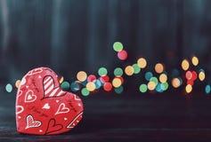 valentin Förälskelse valentin för dagvykort s Älska begreppet för dag för moder` s och dag för valentin` s Lyckliga hjärtor för d Arkivfoton