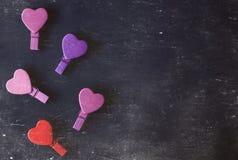 valentin Förälskelse valentin för dagvykort s Älska begreppet för dag för moder` s och dag för valentin` s Lyckliga hjärtor för d Royaltyfri Foto