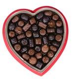 valentin för 2 choklad arkivfoto