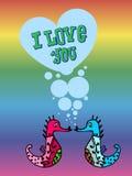 Valentin för bögar, lgbt stock illustrationer